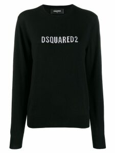 Dsquared2 contrast logo sweater - Black