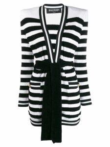 Balmain knitted striped cardigan - Black