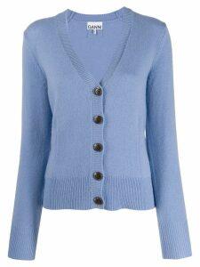 Ganni V-neck cardigan - Blue