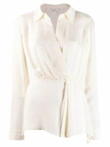 Veronica Beard wrap style blouse - White