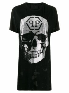 Philipp Plein destroyed skull T-shirt - Black