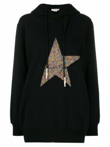 Golden Goose logo embroidered hoodie - Black