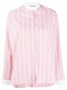 Thierry Colson striped long-sleeve shirt - PINK
