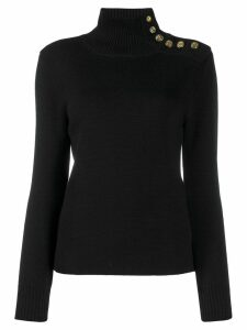 Paco Rabanne button shoulder jumper - Black