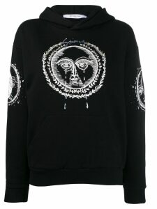 Givenchy moon and sun embroidered hoodie - Black