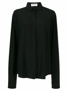 Saint Laurent satin tailored shirt - Black