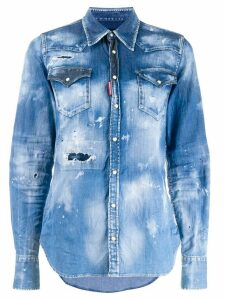 Dsquared2 distressed denim shirt - Blue