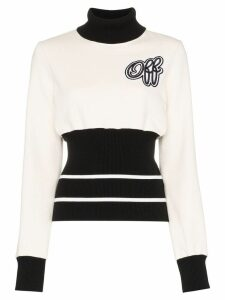 Off-White roll-neck fitted-waist sweatshirt