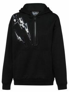 Prada embellished Thunderbolt hoodie - Black