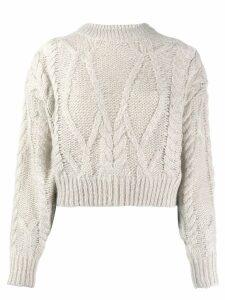 IRO cable knit jumper - NEUTRALS