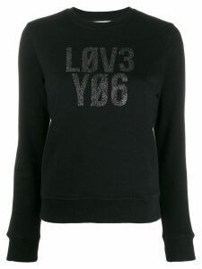 Red Valentino slogan print jumper - Black