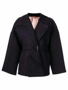 Nº21 oversized belted coat - Black