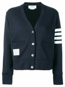 Thom Browne striped sleeve cardigan - Blue