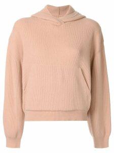 Nanushka Mog knit hoodie - PINK