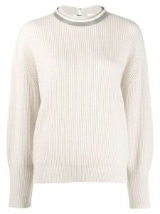 Brunello Cucinelli ribbed jumper - NEUTRALS
