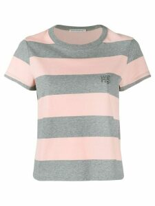 Alexander Wang striped short-sleeve T-Shirt - Grey