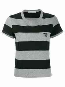 Alexander Wang striped short-sleeve T-Shirt - Black