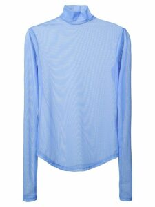 Nomia long-sleeve sheer top - Blue