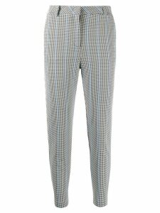 Pinko checked cropped trousers - White