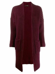 Incentive! Cashmere midi cardi-coat - Purple