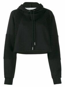 Off-White cropped logo hoodie - Black