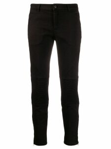 Nº21 ribbed cropped jeans - Black