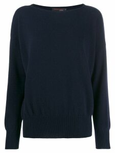 Incentive! Cashmere oversized jumper - Blue