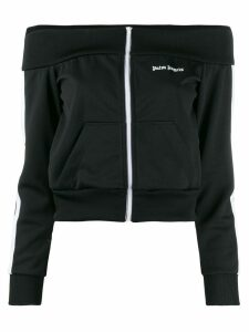 Palm Angels off-the-shoulder track jacket - Black