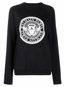 Balmain logo crest sweatshirt - Black