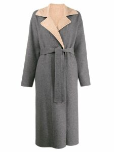 Givenchy reversible belted coat - Grey