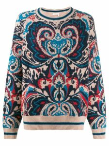 See By Chloé oversized patterned sweater - Blue