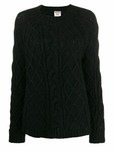 Semicouture chunky cable knit jumper - Black