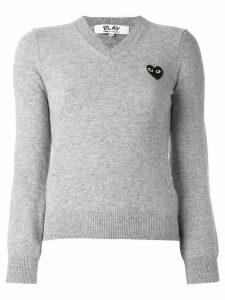 Comme Des Garçons Play embroidered heart jumper - Grey