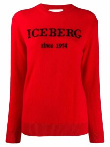 Iceberg logo jumper - Red