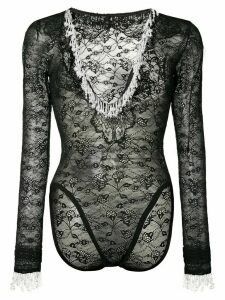 Christopher Kane pearl stretch lace body - Black