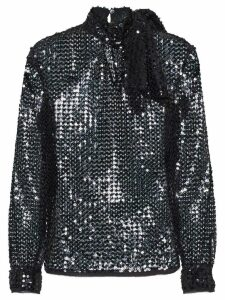 Miu Miu sequined piqué top - Black