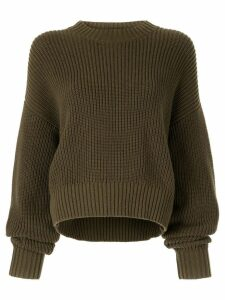 Bassike knitted sweatshirt - Green