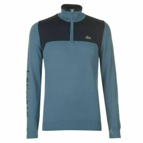 Lacoste Sport Zip Neck Sweater