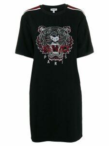 Kenzo tiger embroidered T-shirt dress - Black