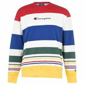 Champion Stripe Crew Neck Sweater