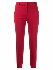 Pinko slim-fit cropped trousers - Red