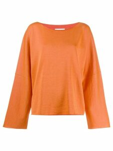 Mm6 Maison Margiela oversized knitted top - Orange