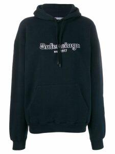 Balenciaga Back pulled hoodie - Blue