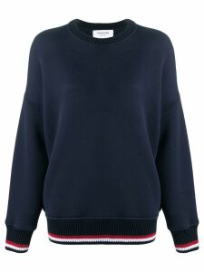 Thom Browne Oversized Crew Navy Sweatshirt - Blue
