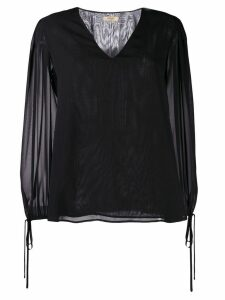 LIU JO V-neck blouse - Black