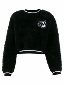 Off-White textured cropped jumper - Black