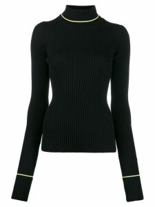 Maison Margiela turtleneck ribbed jumper - Black