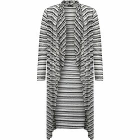 James Lakeland Striped Openwork Cardigan