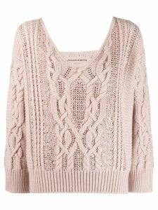 Ermanno Scervino cable knit sweater - Pink