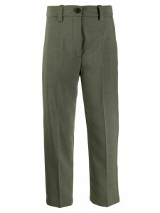 Erika Cavallini cropped trousers - Green